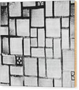 A Tiled Wall Wood Print
