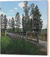 A Trail's Footbridge Wood Print