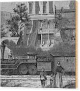 A Train Of The Camden & Amboy Wood Print