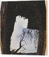 A Tree In A Square Abstract Wood Print