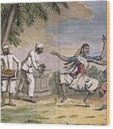 A Troupe Of Bayaderes, Or Indian Wood Print by Pierre Sonnerat