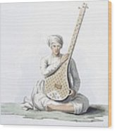 A Tumboora, Musical Instrument Played Wood Print