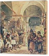 A Turkish Bazaar Wood Print