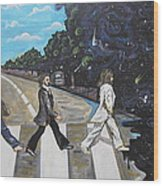A Twist On Abbey Road By Erik Franco.  Wood Print