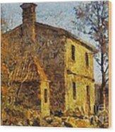 A Typical  Karstic House Wood Print