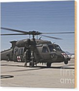 A Uh-60 Blackhawk Helicopter Wood Print