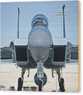 A U.s. Air Force F-15d Eagle Taxis Wood Print