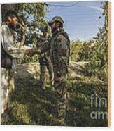 A U.s. Air Force Master Sergeant Wood Print