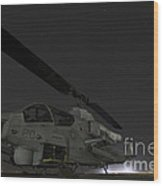 A U.s. Marine Corps Ah-1w Cobra Attack Wood Print