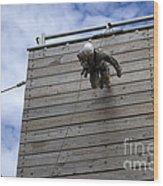 A U.s. Soldier Runs Down A 40-foot Wood Print