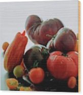 A Variety Of Vegetables Wood Print