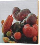 A Variety Of Vegetables Wood Print