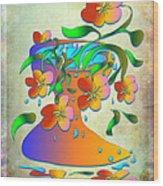 A Vase Of Flowers Wood Print