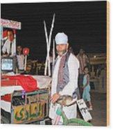A Vendor In Alexandria Egypt Wood Print