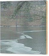 A Very Cold Rain Wood Print