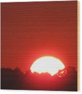 A Very Hot Sunset Wood Print
