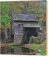 A Very Old Grist Mill Wood Print