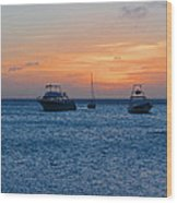 A View From A Catamaran2 - Aruba Wood Print