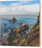 A View From Ecola State Park Wood Print