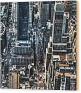 A View From The Empire State Building Wood Print