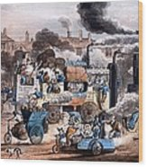 A View In White Chapel Road 1830 Wood Print