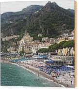 A View Of Amalfi Wood Print by H Hoffman