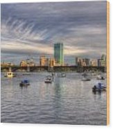 A View Of Back Bay - Boston Skyline Wood Print