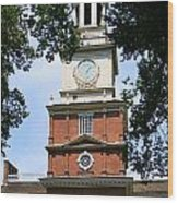 A View Of Independence Hall Wood Print
