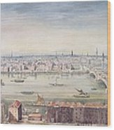 A View Of London From St Pauls To The Custom House, 1837 Wood Print