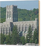A View Of The Cadet Chapel At The United States Military Academy Wood Print