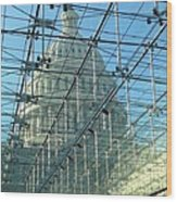 A View Of The Capitol From The Visitor Center Wood Print