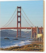 A View Of The Golden Gate Bridge From Baker's Beach  Wood Print