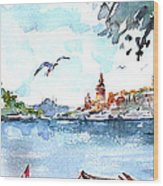 A View Of The Historical Peninsula From Uskudar - Istanbul Wood Print