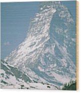A View Of The Majestic Matterhorn Wood Print