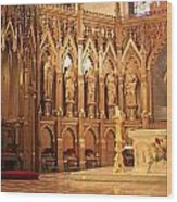 A View Of The St. Patrick Old Cathedral Altar Area Wood Print