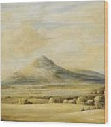A View Of The Wrekin In Shropshire Going From Wenlock To Shrewsbury Wood Print