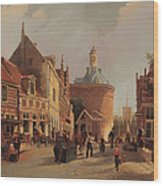 A View Of The Zuiderspui Wood Print