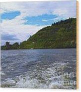 A View Of Urquhart Castle Wood Print
