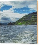 A View Of Urquhart Castle From Loch Ness Wood Print