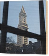 A View Out Of Faneuil Hall Wood Print