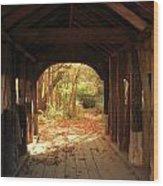 A View Through The Bridge Wood Print