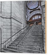A View To The Mcgraw Rotunda Nypl Wood Print