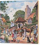 A Village Wedding Wood Print