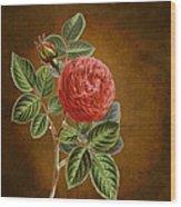 A Vintage Rose Romance L Wood Print
