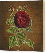 A Vintage Rose Wonder Wood Print