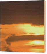 A Vocano Erupts In Kachemak Bay Wood Print