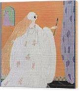 A Vogue Cover Of A Bride Wood Print