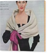 A Vogue Cover Of A Woman Wearing Balenciaga Wood Print