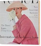 A Vogue Cover Of Evelyn Tripp Wearing Pink Wood Print