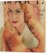 A Vogue Cover Of Mary Mclaughlin Wearing A Fox Wood Print